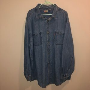 Levi's red tab button up shirt 3XLT